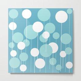 Float - Blue & White Metal Print