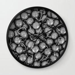 Kettlebells B&W Wall Clock