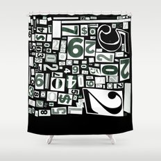 Numbers by Friztin Shower Curtain