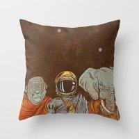 spiritual Throw Pillows featuring Spiritual Animals by Thomcat23