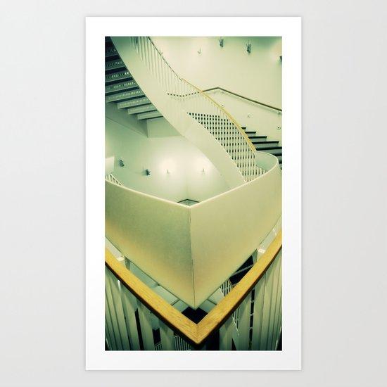 Staircase peak Art Print
