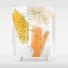 Mama's Mandarine Tree Shower Curtain