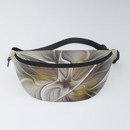 Floral Abstract, Fractal Art Fanny Pack