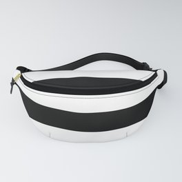 Black and White Large Stripes Fanny Pack