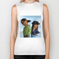 tupac Biker Tanks featuring Poetic Justice by Kimbo Henry