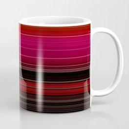 Rich Red Wine Striped Pattern Coffee Mug