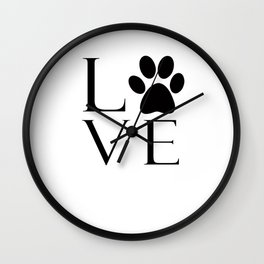 Dog Lover Wall Clock