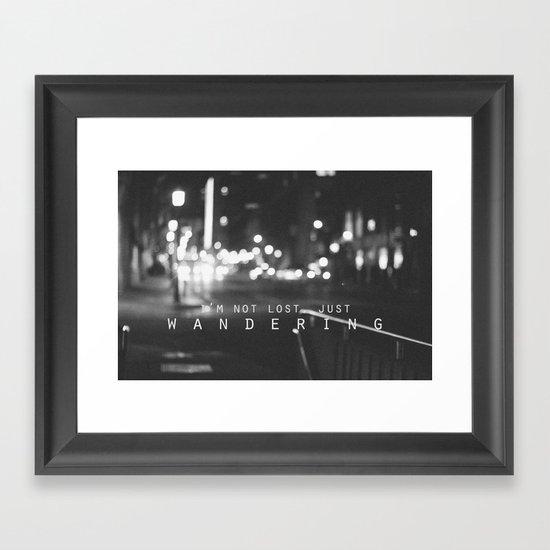 just wandering. Framed Art Print