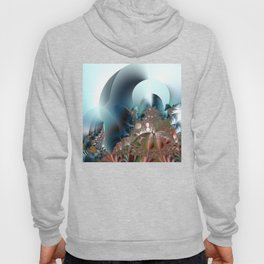 Shimmer on top of the fantasy mountain Hoody