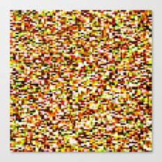 Noise pattern - yellow/red Canvas Print
