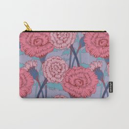 Dark Pink Flowers Pattern Carry-All Pouch