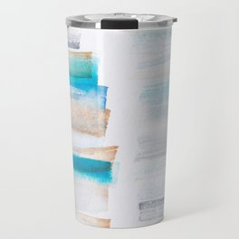 18  | 181101 Watercolour Palette Abstract Art | Lines | Stripes | Travel Mug