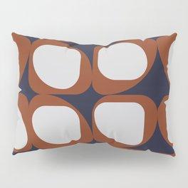 Geometric Pattern I - Navy and Rust Pillow Sham