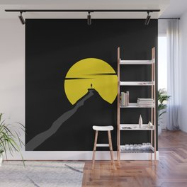 the moon the mountain Wall Mural