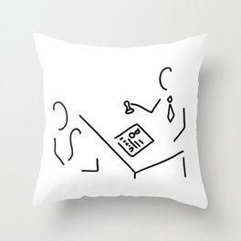 notary public lawyer Throw Pillow