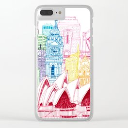 Sydney Towers Clear iPhone Case