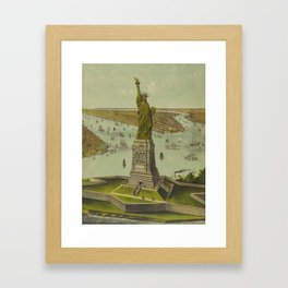 Currier & Ives. - Print c.1885 - Statue of Liberty 2 Framed Art Print