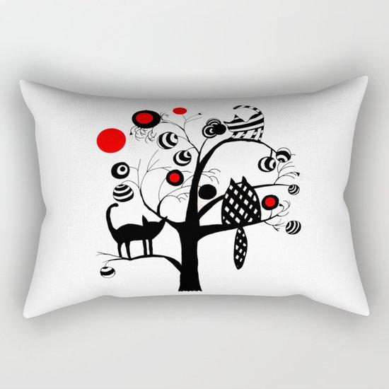 cats and fruits Rectangular Pillow