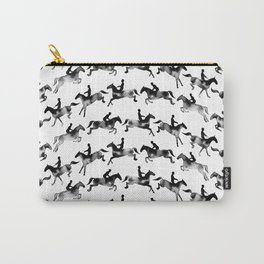 Showjumping Horse Sequence (Black) Carry-All Pouch