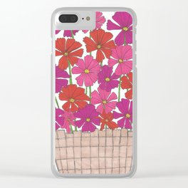 Bushel of Cosmos Clear iPhone Case