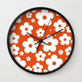 orange jasmine Wall Clock