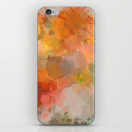 Modern contemporary Yellow Orange Abstract iPhone Skin