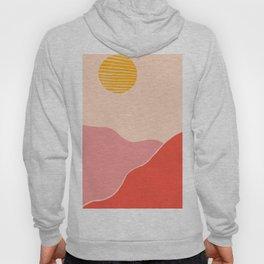 Desert Sunset and Mars Mountains Hoody