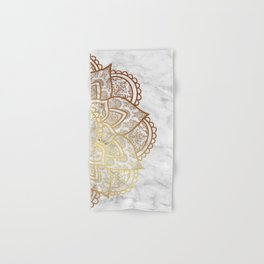 Mandala - Gold & Marble Hand & Bath Towel