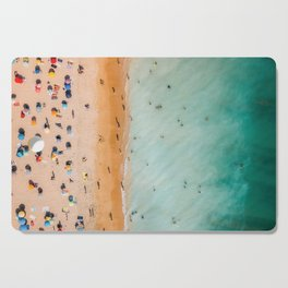 People On Algarve Beach In Portugal, Drone Photography, Aerial Photo, Ocean Wall Art Print Cutting Board