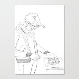 Laura (white) Canvas Print