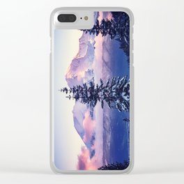 Glorious Beginning sunrise on Mount Shasta Clear iPhone Case