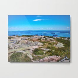 View of Bar Harbor, Maine from Cadillac Mountain (3) Metal Print