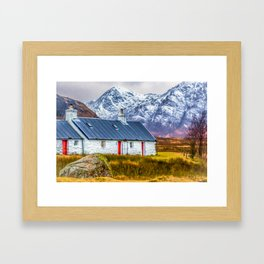 Black Rock Cottage Glencoe (2) Framed Art Print