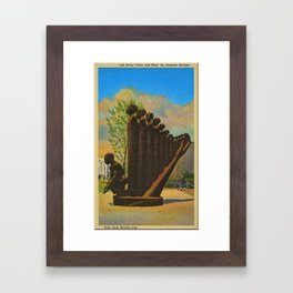 African American Masterpiece 'Lift Up Every Voice & Sing' based on the sculpture by Augusta Savage Framed Art Print