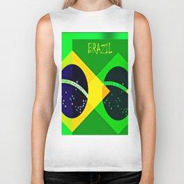 BRAZIL FLAG 1 Biker Tank