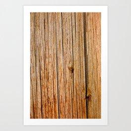 Power Pole Wood Grain Art Print