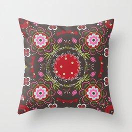 Beautiful Floral Mandala Throw Pillow