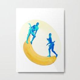 Josephine Plays at the Banana See-saw Metal Print