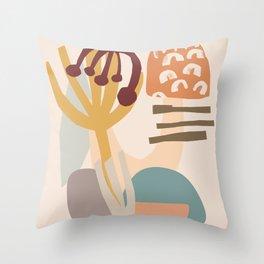 Natural Shapes #shapeart #digitalart Throw Pillow