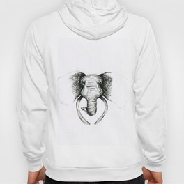 Sketch Elephant Hoody