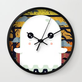 Spooky Boo Ghost Scene Halloween | Funny & Great Gift Wall Clock