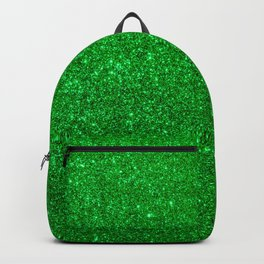 Emerald Green Shiny Metallic Glitter Backpack