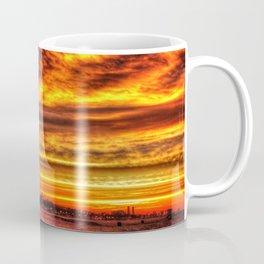Fire Sky Huntington Beach California Coffee Mug
