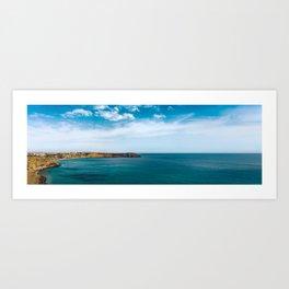 Ocean view from Fortaleza de Sagres, Portugal Art Print