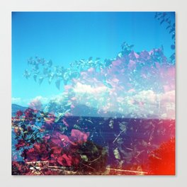 Flowers/Clouds - Zakynthos, Greece Canvas Print