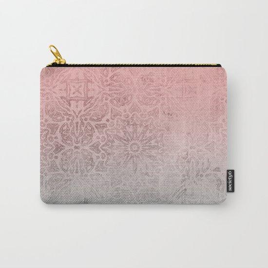 Oriental ornament pattern Rose Quartz Carry-All Pouch