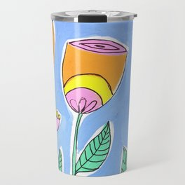 Stylised Flowers Travel Mug