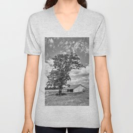 Old Shed in Richmond Texas Unisex V-Neck