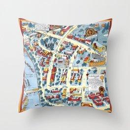 MINNEAPOLIS University map MINNESOTA dorm decor Throw Pillow