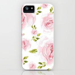 Feminine pink flowers pattern iPhone Case